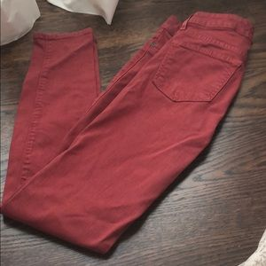 Jeans by rich & skinny size 25 brick red euc and
